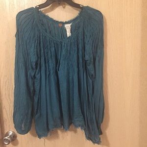 Free People One | Size Small | Sheer Gauze Top